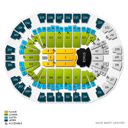 save mart center seating chart with seat numbers: Elton john fresno tickets 1 15 2019 l vivid seats