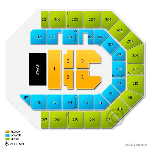 Allstate Arena Floor Plan: UIC Pavilion Information