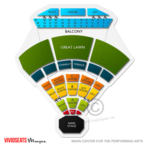 Mann Music Center Seating Chart Restraunt Vouchers