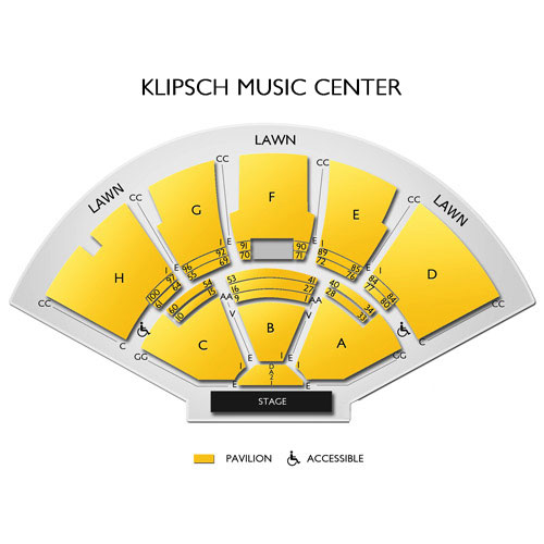 Klipsch music center noblesville in seating chart stage