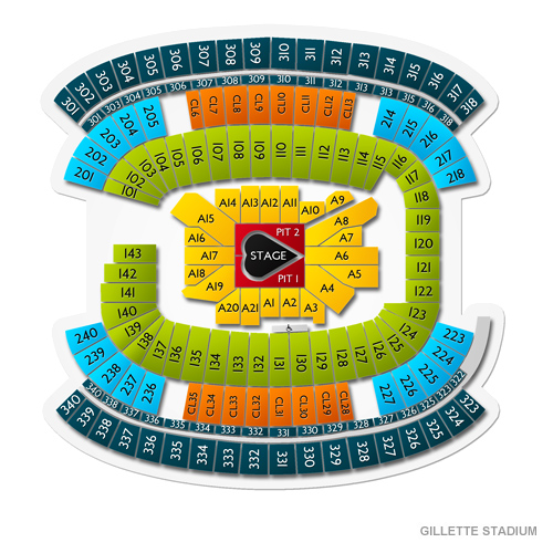 Taylor Swift Gillette Stadium 2020 Seating Chart The Future