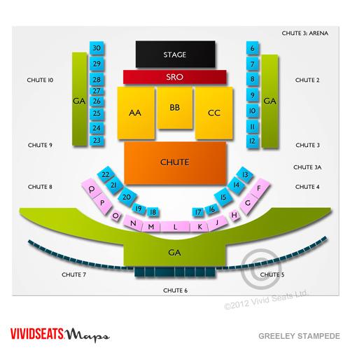 Greeley Stampede Seating Chart Vivid Seats