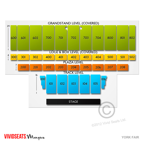 York Fair Seating Chart Vivid Seats