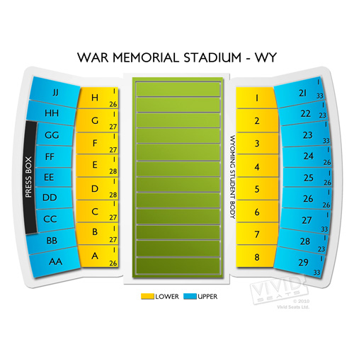 War Memorial Stadium Wy Seating Chart Vivid Seats