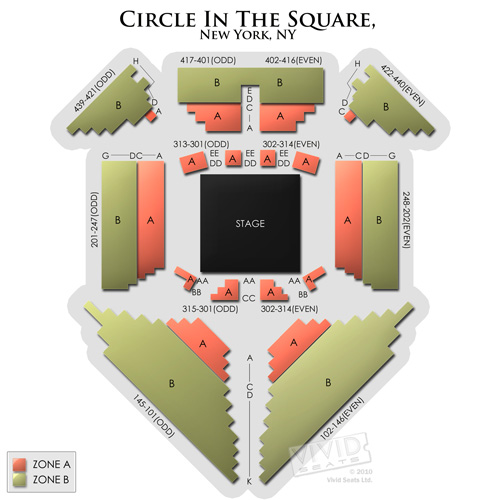 circle in the square seating chart vivid seats. Black Bedroom Furniture Sets. Home Design Ideas