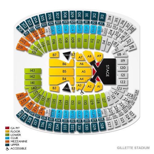 gillette stadium interactive seating chart